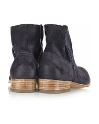 NDC - Blue Sunday Braid-detailed Brushed-suede Ankle Boots - Lyst