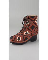 Opening Ceremony | Brown Joelle Canvas Clog Booties | Lyst