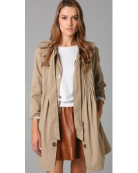 Tibi | Brown Bow Trench Coat | Lyst