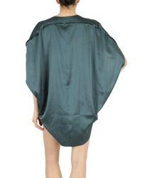 Playa Di Roberta Corti | Green Stretch Silk Satin Top | Lyst