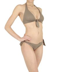 Playa Di Roberta Corti - Brown Bow Bra Bathing Suit - Lyst