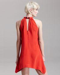 Vena Cava | Red Round-neck Handkerchief Dress | Lyst