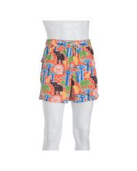 Vilebrequin | Multicolor Hawaii Elephant and Tree Print Moorea Swim Trunks for Men | Lyst
