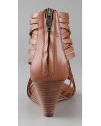 Ash | Brown Delicious Strappy Wedge Sandals | Lyst