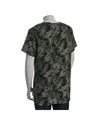 Balmain - Dark Green Camouflage Tiger Distressed T-shirt for Men - Lyst