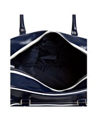 Fred Perry - Blue Navy Faux Leather Holdall Travel Bag for Men - Lyst