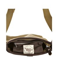 Fred Perry - Metallic Twill Canvas Map Shoulder Bag for Men - Lyst