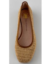 House of Harlow 1960 - Brown Kelly Crochet Flats - Lyst