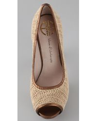 House of Harlow 1960 - Natural Paulina Crochet Pumps - Lyst