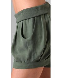 James Jeans | Green Icon Petal Shorts | Lyst