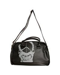 John Varvatos - Black Coated Canvas Skull Print Duffel for Men - Lyst