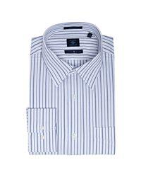 Joseph Abboud | Blue Navy Stripe Cotton Point Collar Dress Shirt for Men | Lyst