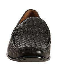 Mezlan - Black Leather Gilby Woven Detail Loafers for Men - Lyst