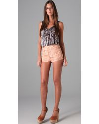 Opening Ceremony - Pink Cork Print Shorts - Lyst