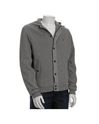 Original Penguin | Gray Dark Steel Heather Cotton Waffle Knit Jacket for Men | Lyst