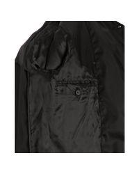 Prada - Black Nylon Button Front Trench Coat for Men - Lyst