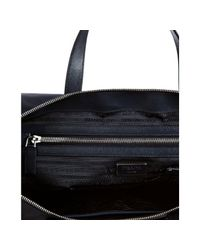 Prada - Blue Navy Nylon and Leather Travel Tote for Men - Lyst