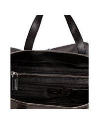 Prada - Gray Slate Nylon and Leather Travel Tote for Men - Lyst