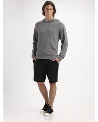 T By Alexander Wang | Gray Batting Hoodie for Men | Lyst