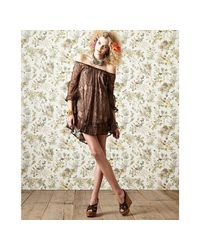 Daughters of the Revolution - Antique Brown Lace Lacie Bell Peasant Dress - Lyst