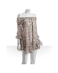 Daughters of the Revolution | Green Sugar Snap Floral Print Cotton Lacie Bell Peasant Dress | Lyst