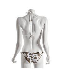 Gucci | White Shell Print Nylon Rope Tie Bikini | Lyst