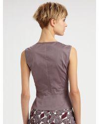 Lavia18 - Gray Leaf Print Skirt - Lyst