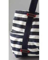 Splendid | Blue Striped Canvas Tote | Lyst