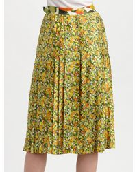 Stella McCartney - Multicolor Citrus-print Cotton Skirt - Lyst