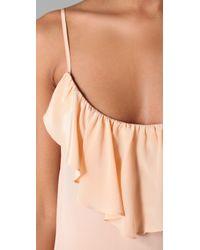 Sunner | Pink Cambridge Flounce Maxi Dress | Lyst