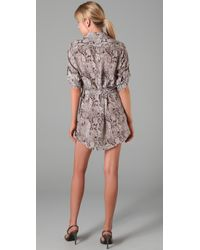 Thayer | Multicolor Snake Print Shirtdress | Lyst