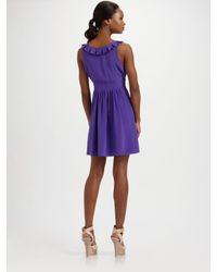 Tibi - Purple Lillian Scoopneck Silk Dress - Lyst