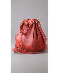 Tory Burch - Red Jamie Small Bucket Tote - Lyst