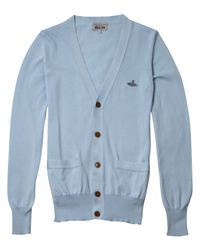 Vivienne Westwood | Blue V-neck Long Sleeve Cardigan for Men | Lyst