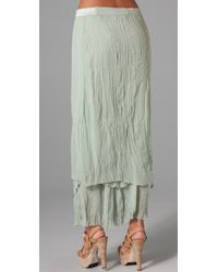 Alice + Olivia - Blue July Layered Maxi Skirt - Lyst