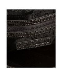 BCBGMAXAZRIA - Gray Charcoal Lizard Embossed Charlie Oversized Envelope Clutch - Lyst
