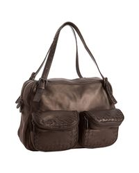 Bottega Veneta | Brown Beetle Iridescent Leather Multi-pocket Bag | Lyst