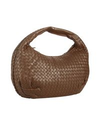 Bottega Veneta | Brown Basketwoven Leather Belly Veneta Hobo | Lyst