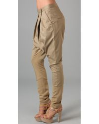 By Malene Birger - Green Asymmetrical Harem Pants - Lyst