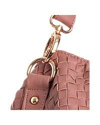 Deux Lux | Pink Blush Basketwoven Decker Crossbody Tote | Lyst