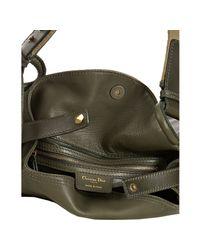 Dior - Green Olive Calfskin Lattice Pocket Shoulder Bag - Lyst