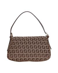 Fendi | Brown Zucchino Canvas Mama Forever Mini Baguette | Lyst