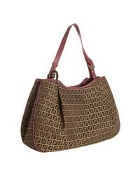 Fendi | Brown Mahogany Zucchino Canvas Forever Shopping Tote | Lyst