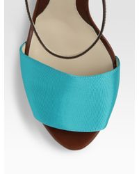 Fendi | Blue Colorblock Sandals | Lyst