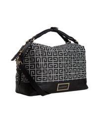 Givenchy | Black Logo Canvas Buggatti East-west Bag | Lyst