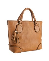 Gucci | Brown Leather Marrakech Braid Trim Tote | Lyst