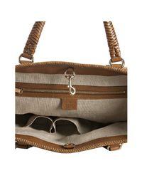 Gucci | Brown Leather Marrakech Braid Trim Tote | Lyst