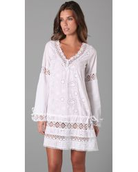 OndadeMar - White Bohemian Cover Up - Lyst