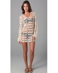 OndadeMar | White Bohemian Lace Cover Up | Lyst
