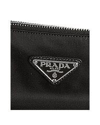 Prada - Black Nylon Letter Front Tote - Lyst